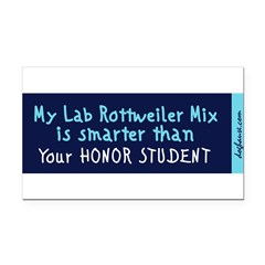 Lab Rottweiler Mix Rectangle Car Magnet