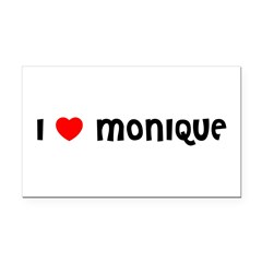 I LOVE MONIQUE Rectangle Car Magnet