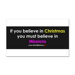 Christmas & Mission Rectangle Car Magnet