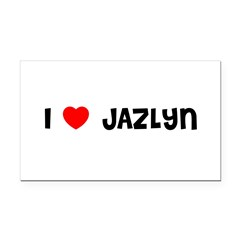 I LOVE JAZLYN Rectangle Car Magnet