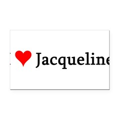 I Love Jacqueline Rectangle Car Magnet