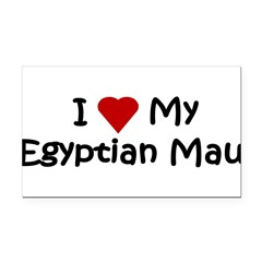 Egyptian Mau Rectangle Car Magnet