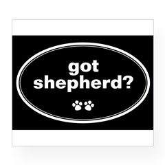 Got Shepherd? Oval Wine Label