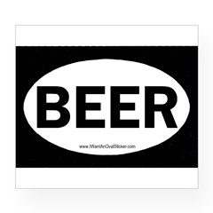 BEER Oval Wine Label