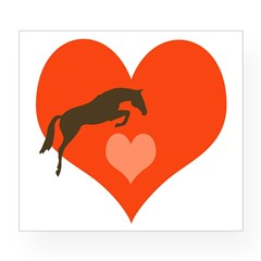 horse hearts Oval Wine Label