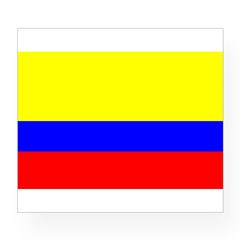 Colombia Flag Rectangle Wine Label