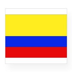 Colombian Flag Rectangle Wine Label