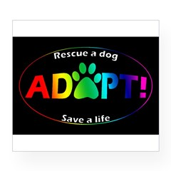 Adopt Sticker (Multi on Black) Wine Label
