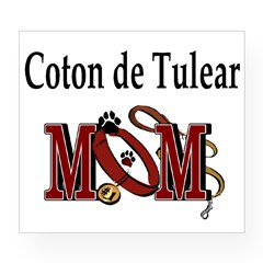 Coton de Tulear Mom Rectangle Wine Label