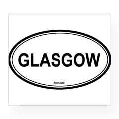 Glasgow, Scotland euro Oval Wine Label