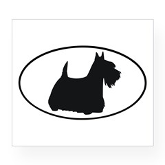 Scottish Terrier Oval Wine Label