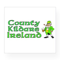 County Kildare, Ireland Rectangle Wine Label