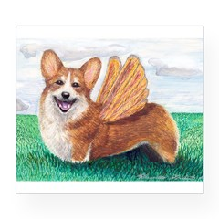 Corgi Rectangle Wine Label