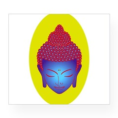 purple buddha Oval Wine Label