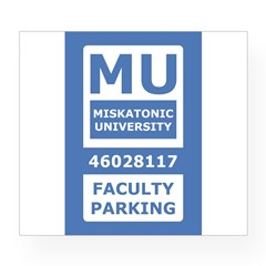 Miskatonic University Parking Pass (Faculty) Wine Label