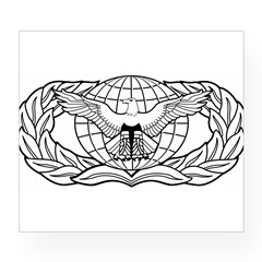 Force Protection Badge Rectangle Wine Label