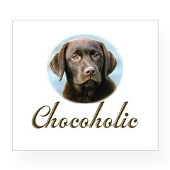 Chocoholic Rectangle Wine Label