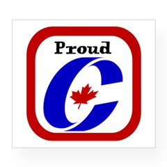 Proud Canadian Conservative Rectangle Wine Label