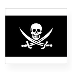 Old Jolly Roger Pirate Flag Wine Label