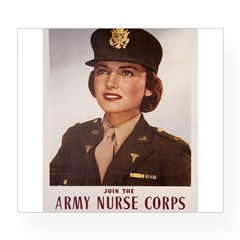 Army Nurse Corps Rectangle Wine Label