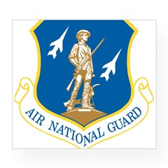 Air National Guard Rectangle Wine Label