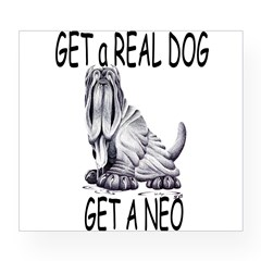 Get a Real Dog ~ Get a Neo Rectangle Wine Label