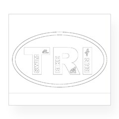 Triathlon Oval Wine Label