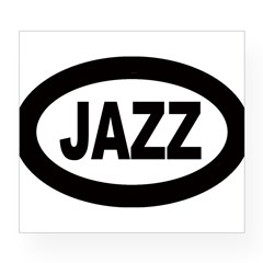 Jazz Car Oval Wine Label