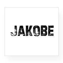 Jakobe Rectangle Wine Label