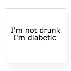 Diabetic Info Rectangle Wine Label