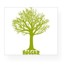 TREE hugger (lime) Rectangle Wine Label