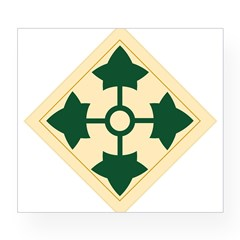 4th Infantry Division Rectangle Wine Label