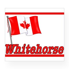 Canada Flag - Whitehorse Rectangle Wine Label