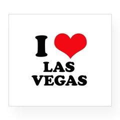 I Heart Las Vegas Rectangle Wine Label