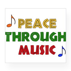 Peace Through Music Rectangle Wine Label