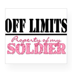 property of my soldier Rectangle Wine Label