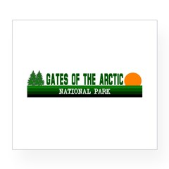 Gates of the Arctic National Sticker (Rectangular Wine Label