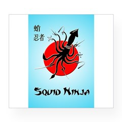 Squid Ninja Wine Label
