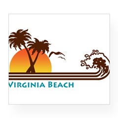 Virginia Beach Rectangle Wine Label