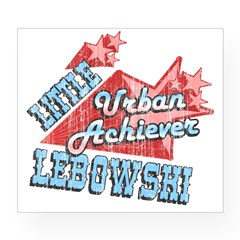 Lebowski Urban Achiever Rectangle Wine Label