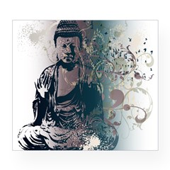 Pretty Buddha Rectangle Wine Label