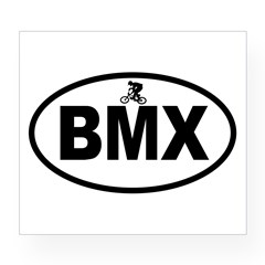 BMX Rider Oval Wine Label