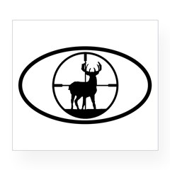 Hunting Stag Oval Wine Label
