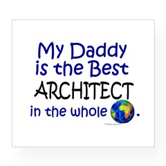 Best Architect In The World (Daddy) Wine Label