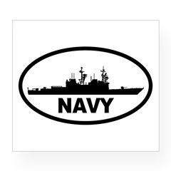 NAVY Destroyer Oval Wine Label