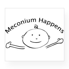 Meconium Happens Oval Wine Label