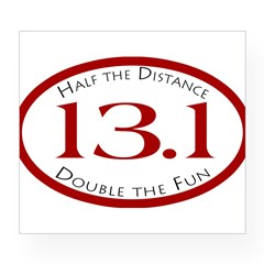 13.1 - Half the Distance Oval Wine Label