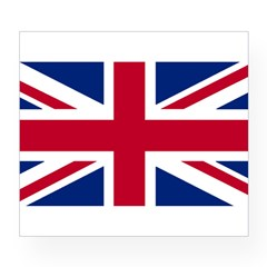 Union Jack Rectangle Wine Label