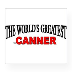 """The World's Greatest Canner"" Sticker (Rectangular Wine Label"