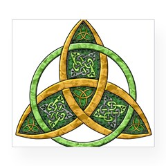Celtic Trinity Knot Rectangle Wine Label